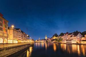 stadsbild av zurich, schweiz foto