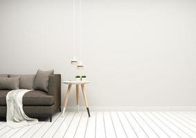 grått vardagsrum med kopieringsutrymme