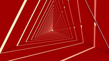 3D framför av röda abstrakta triangelformer