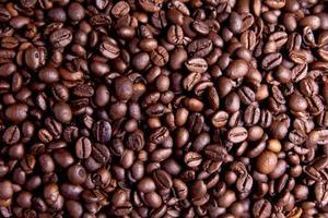närbild av kaffebönor