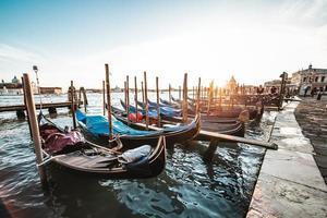 gondoler i Venedig foto