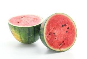 färsk vattenmelon på vit i studio foto