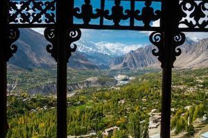 natur landskap utsikt över Hunza Nagar Valley, Pakistan foto