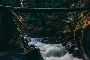 landskap med vattenfall foto
