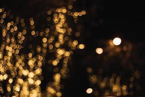 gyllene bokeh bakgrund foto