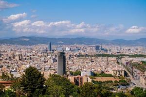 stadsbilden över barcelona foto