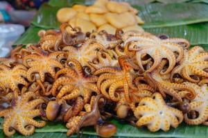 grillad bläckfisk till salu foto