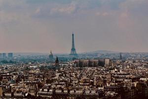 stadshorisont av Paris, Frankrike foto