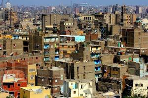 Flygfoto över Kairo, Egypten foto