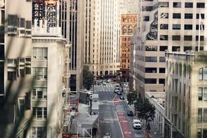 upptagen stadsgata