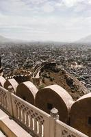 utsikt över staden från fortet nahargarh foto