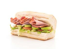 skinka och sallad ubåt smörgås foto