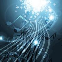 bakgrund med musik