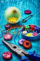 hantverk med pärlor foto