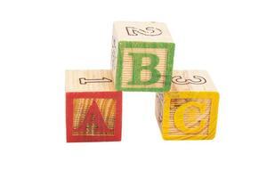 bokstäver block abc foto