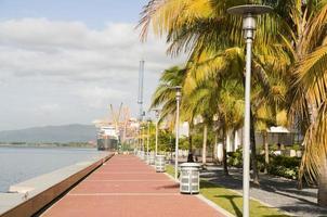 Waterfront utvecklingsprogram hamn i Spanien Trinida foto
