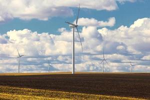 produktion av förnybar energi för vindkraftverk foto