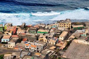 Flygfoto över mosteiros foto
