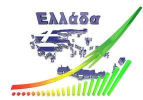 kartaillustration av Grekland med flagga
