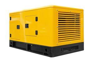 en stor gul och svart generator foto