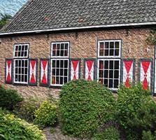 holländsk byggnadsillustration foto