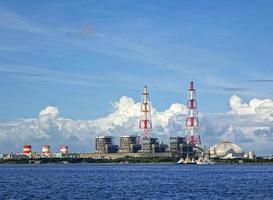 stort värmekraftverk foto