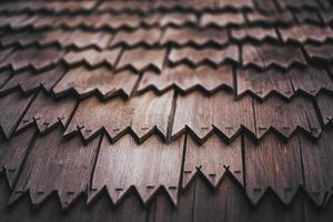 närbild av träplattor foto