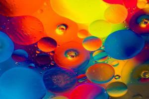 färgglada runda lampor foto