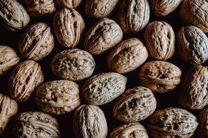 bakgrund fylld med nötter foto