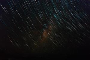 tidsfördröjning av stjärnor foto