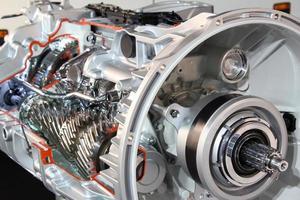 tung lastbil transmission detalj