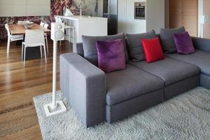vackert vardagsrum möblerat foto