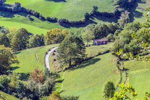 vackert landskap i Navarra Spanien