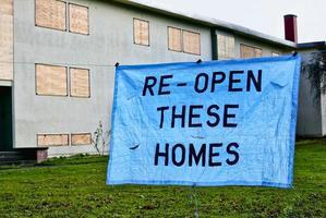 statligt bostadsprojekt stängs av foto