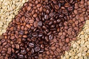 urval av kaffe foto