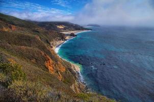 utsikt över havet på motorväg nr 1, Kalifornien foto