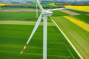 väderkvarnar flygfoto foto