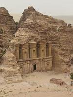 klosterruiner i petra, Jordanien foto