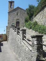 kyrka i Casentino, Toscana, Italien foto
