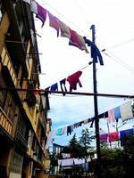tvätt hängande