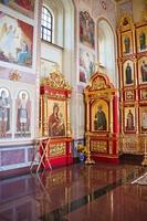 interiör i det ortodoxa templet, city suzdal, Ryssland foto