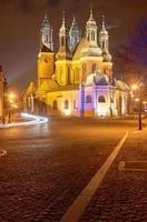 gotiska domkyrka torn på natten