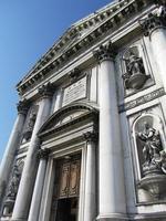 venice, santa maria della hälsar detaljer i Italien foto