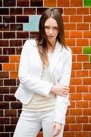 fashionabla kvinna porträtt foto