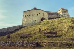 rasnov medeltida citadell, Rumänien foto