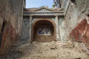 den berömda antika platsen i Pompeii, nära Naples i Italien