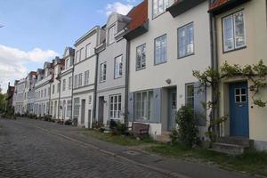 staden lubeck, fasader. foto