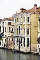 palats på grand canal venice italy foto