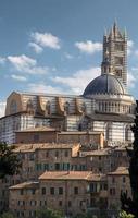 katedralen och gamla staden i Siena