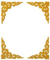 guldstruktur från dörren i thailändsk-kinesisk tempel. foto